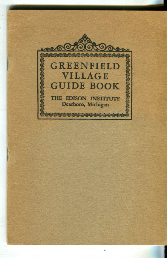 Image for Greenfield Village Guide Book