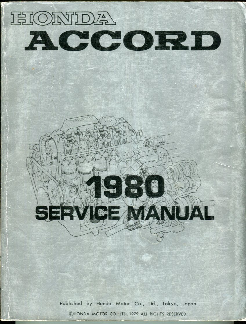 Image for Honda Accord 1980 Service Manual