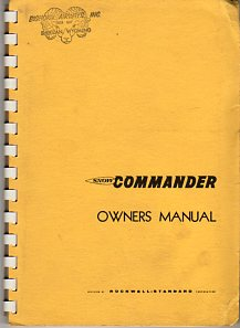Image for Owner's Manual Model 600 S- 2D (Snow Commander) Agricultural Airplane: Description, Operation, Maintenance, Inspection, Assembly