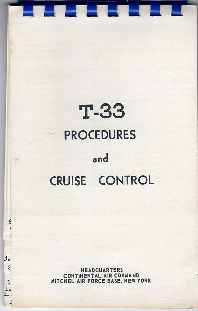 Image for T- 33 Procedures and Cruise Control