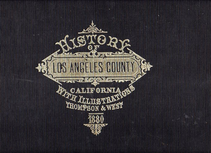 Image for Reproduction of Thompson and West's History of Los Angeles County, California with Illustrations