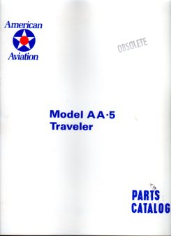 Image for American Aviation Model AA- 5 Traveler Parts Catalog