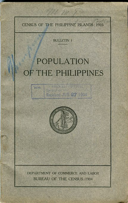 Image for Population of the Philippines By Islands, Provines, Municipalities, and Barrios Taken in the Year 1903 (Census of the Philippine Islands, Bulletin 1)
