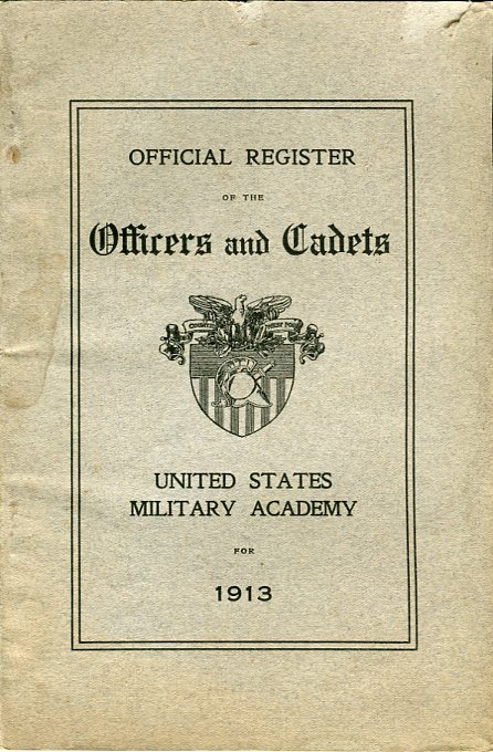 Image for Official Register of the Officers and Cadets, United States Military Academy for 1913
