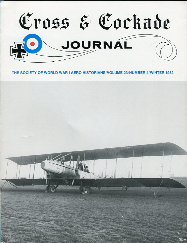 Image for Cross & Cockade Journal: The Society of World War I Aero Historians, volume 23 #4 Winter 1982
