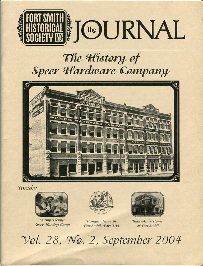 Image for Fort Smith Historical Society Inc.: The Journal, Vol. 28, No. 2, September 2004