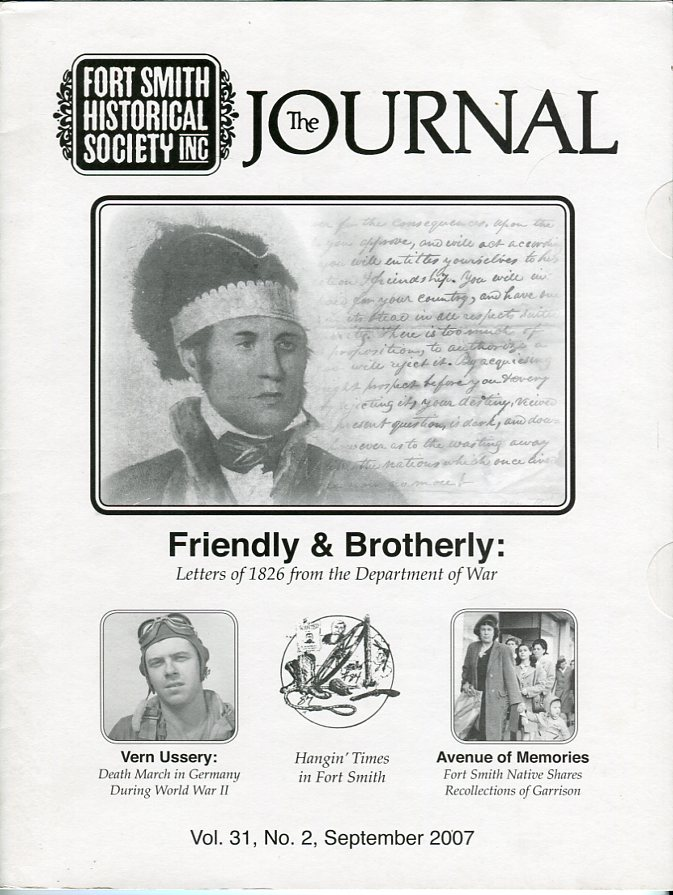 Image for Fort Smith Historical Society Inc.: The Journal, Vol. 31, No. 2, September 2007