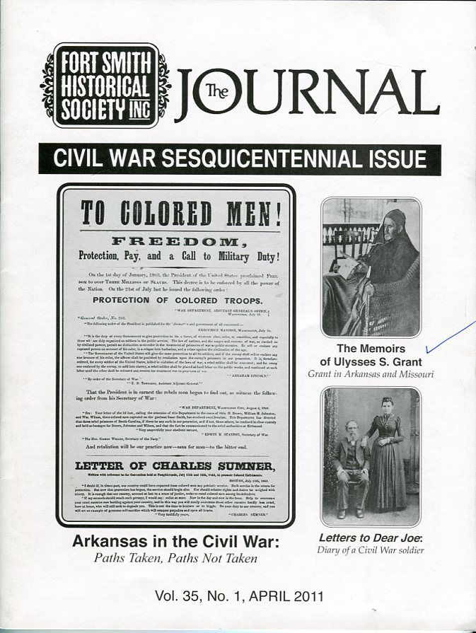 Image for Fort Smith Historical Society Inc.: The Journal, Vol. 35, No. 1, April 2011