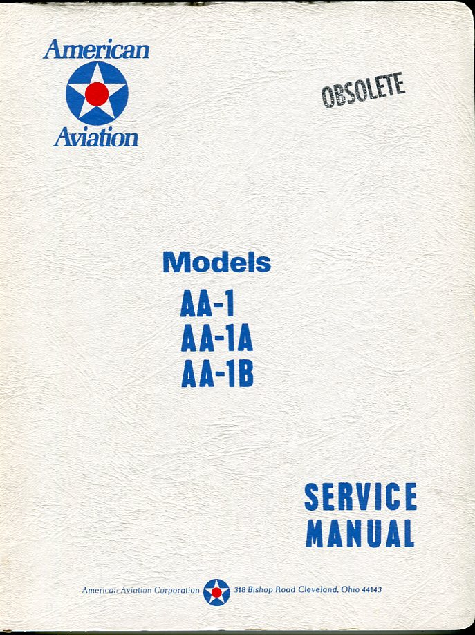 Image for American Aviation Model AA- 1, AA- 1A, AA- 1B Service Manual