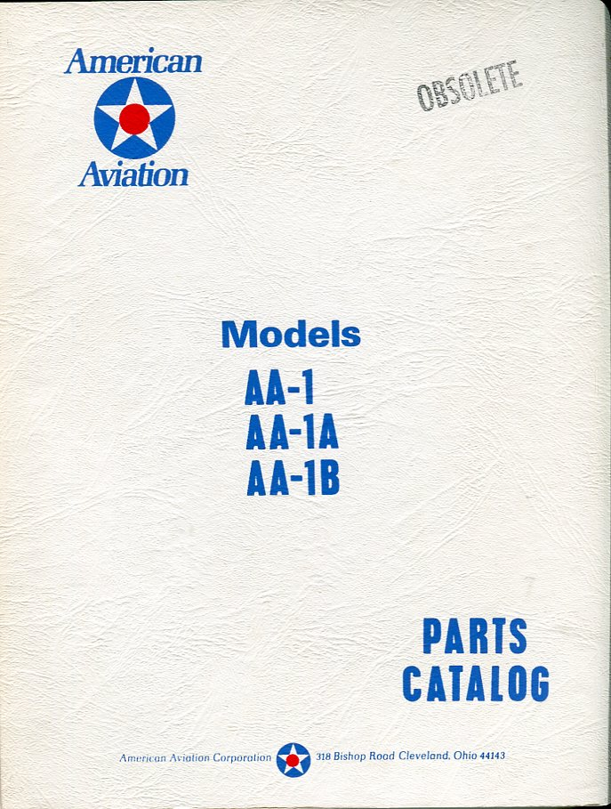 Image for American Aviation Model AA- 1, AA- 1A, AA- 1B Parts Catalog