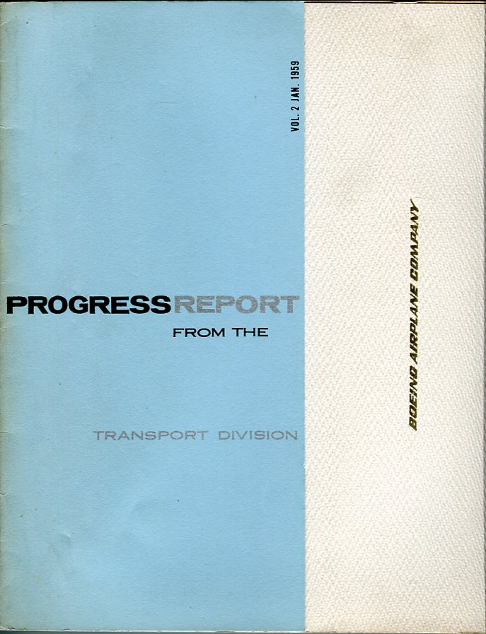 Image for Progress Report (of Boeing 707) from the Transport Division Boeing Airplane Company, Volume 2