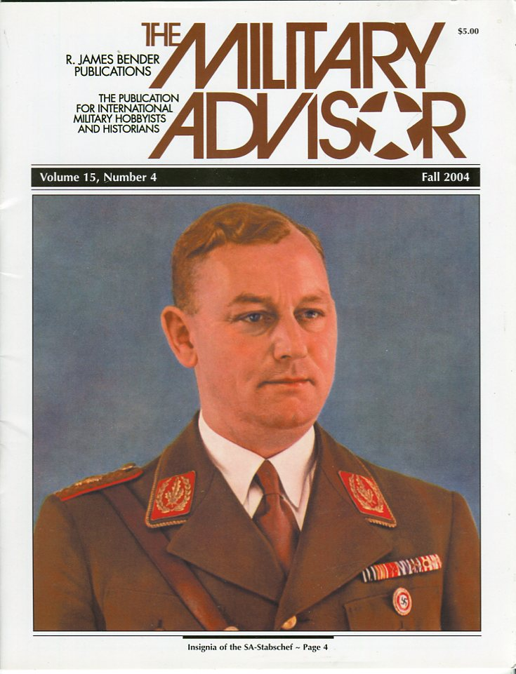 Image for The Military Advisor: The Publication for International Military Hobbyists and Historians, Volume 11, #1 to Volume 15, #4 (19 issues) (Missing Vol. 13, #3)