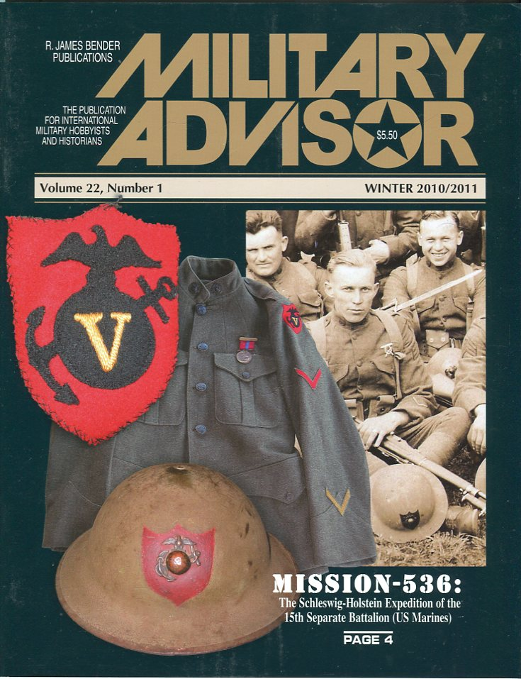 Image for The Military Advisor: The Publication for International Military Hobbyists and Historians, Volume 22, #1, Winter 2010/2011