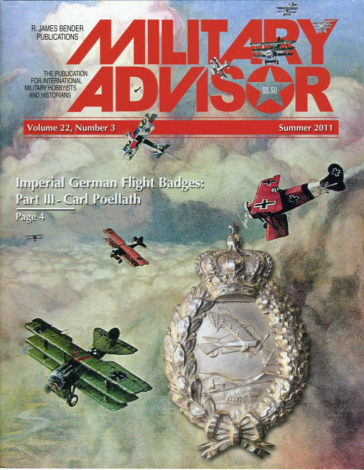Image for The Military Advisor: The Publication for International Military Hobbyists and Historians, Volume 22, #3, Summer 2011