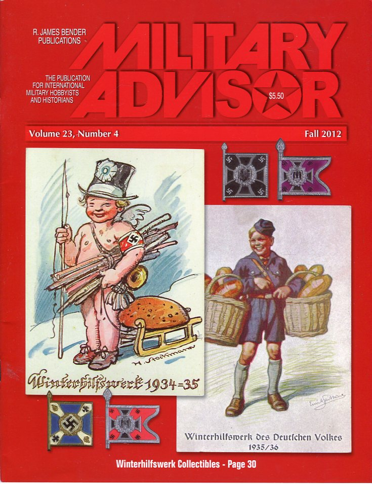 Image for The Military Advisor: The Publication for International Military Hobbyists and Historians, Volume 23, #4, Fall 2012