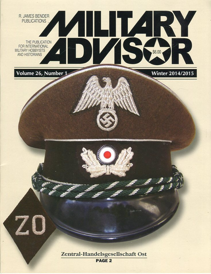 Image for The Military Advisor: The Publication for International Military Hobbyists and Historians, Volume 26, #1, Winter 2014/2015
