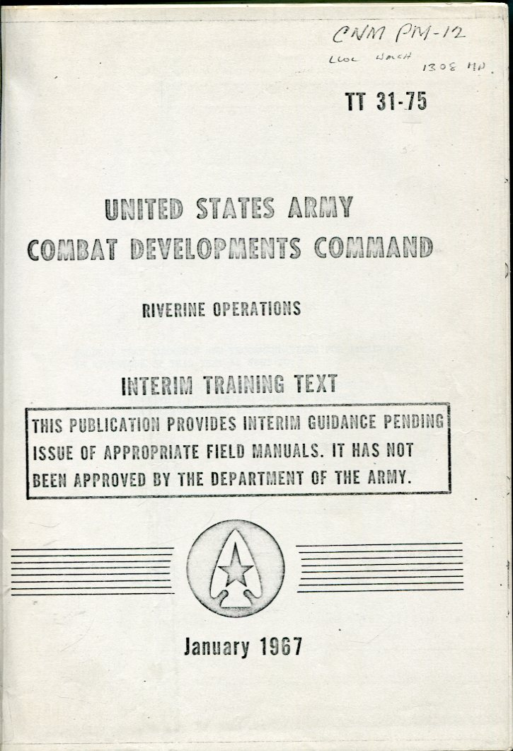 Image for Riverine Operations: Interim Training Text (USACDC TT 31- 75)