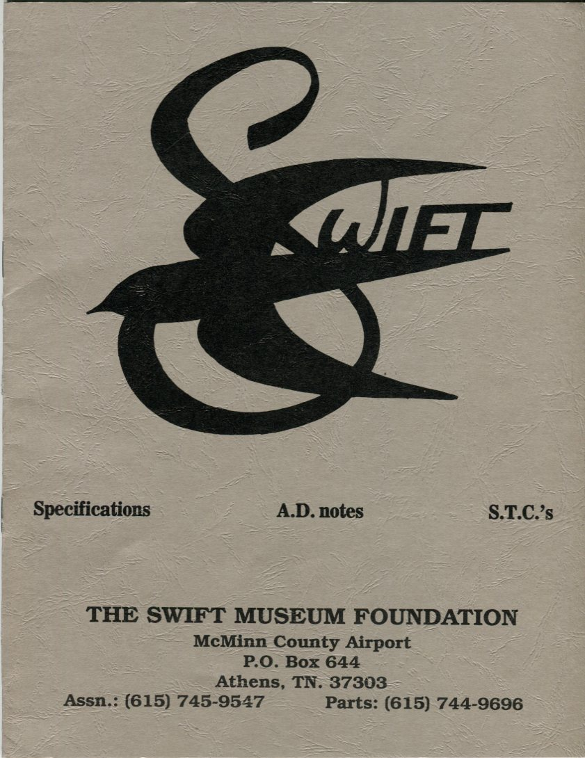 Image for Swift Specifications, A.D. Notes, S.T.C.'s