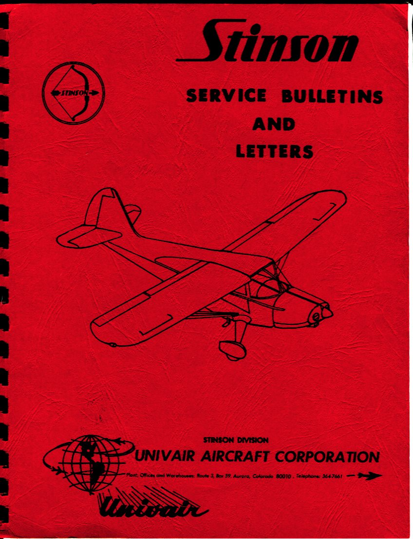 Image for Stinson Service Bulletins and Letters