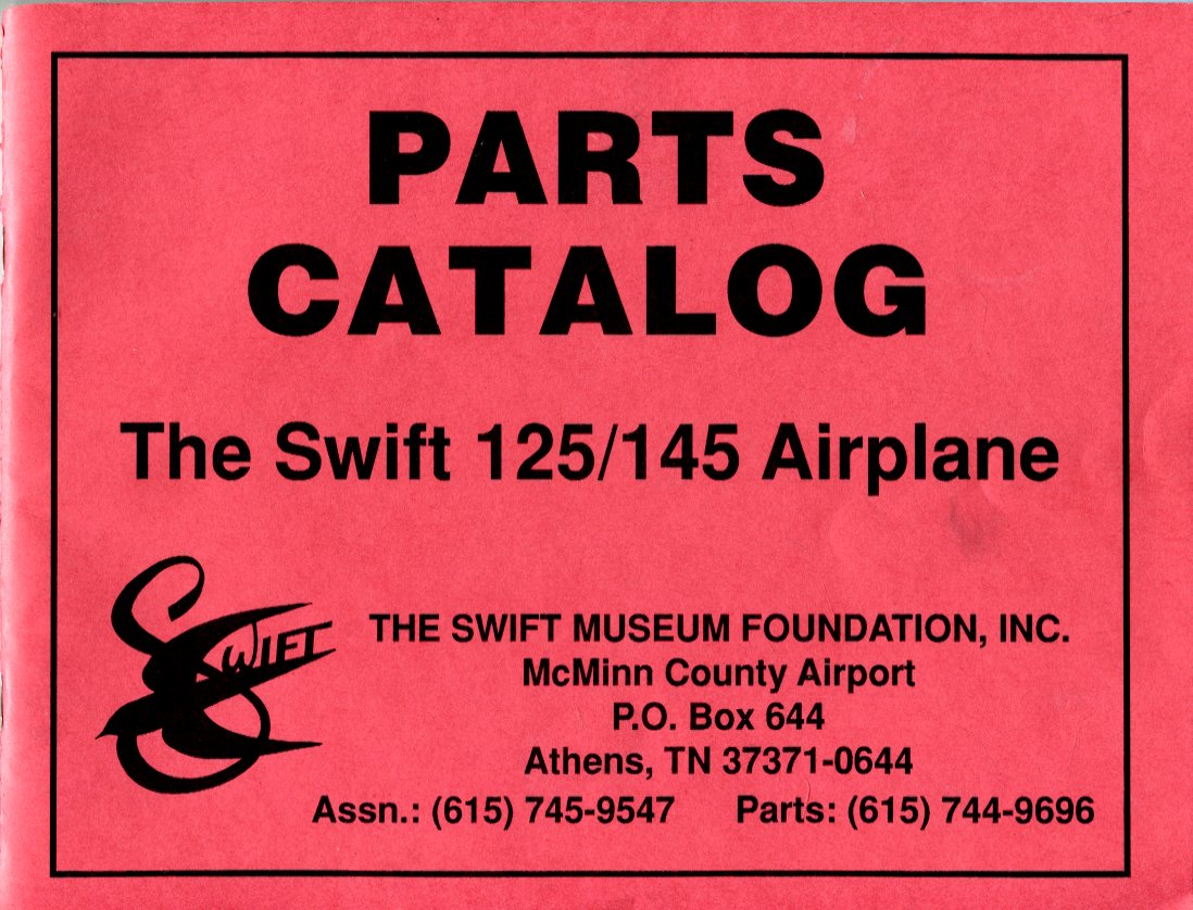 Image for Parts Catalog: The Swift 124/145 Airplane