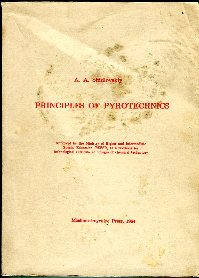 Image for Principles of Pyrotechnics