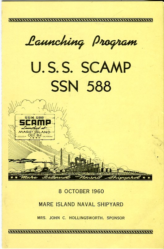 Image for Launching Program U.S.S. Scamp SSN 588, 8 October 1960