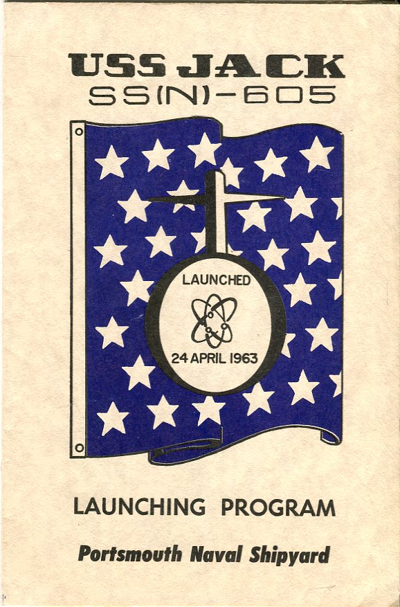 Image for USS Jack SS(N) 605 Launching Program April 24, 1963