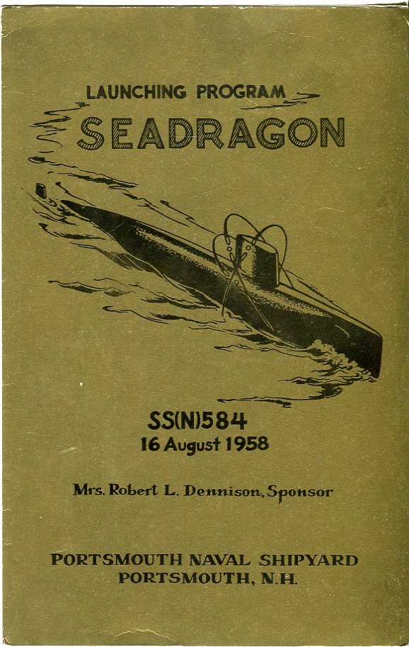 Image for Launching Program Seadragon SS(N) 584, 16 August, 1958