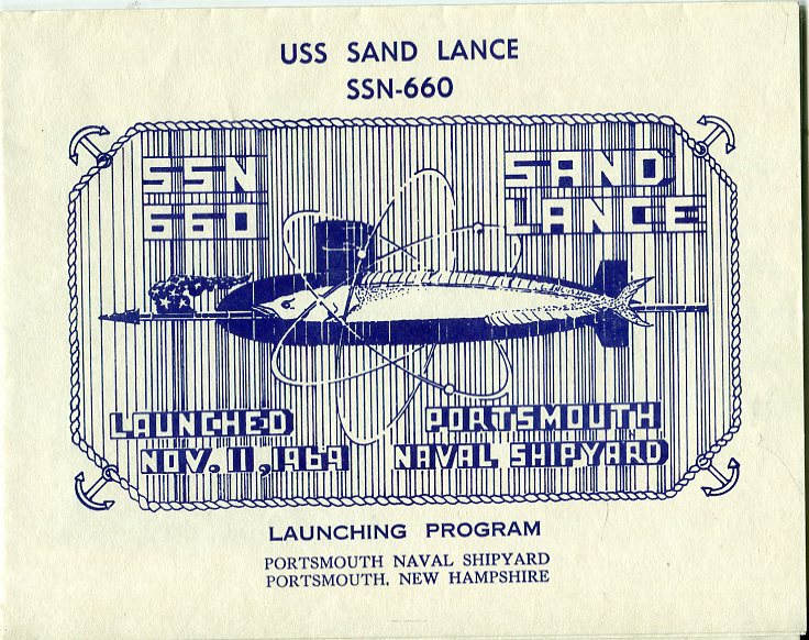 Image for USS Sand Lance SSN 660 Launching Program, November 11, 1969