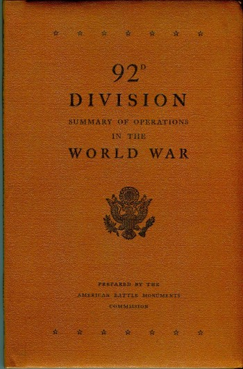 Image for 92d Division: Summary of Operations in the World War