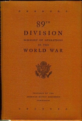 Image for 89th Division: Summary of Operations in the World War