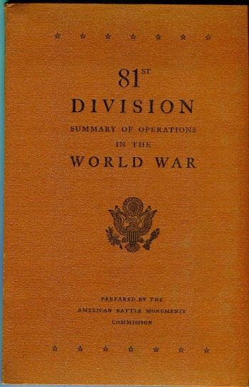 Image for 81st Division: Summary of Operations in the World War
