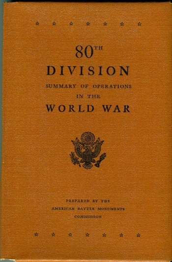 Image for 80th Division: Summary of Operations in the World War