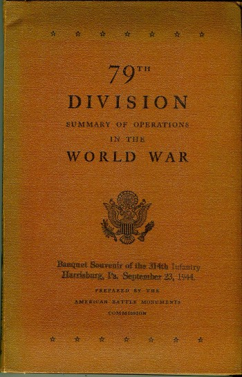 Image for 79th Division: Summary of Operations in the World War
