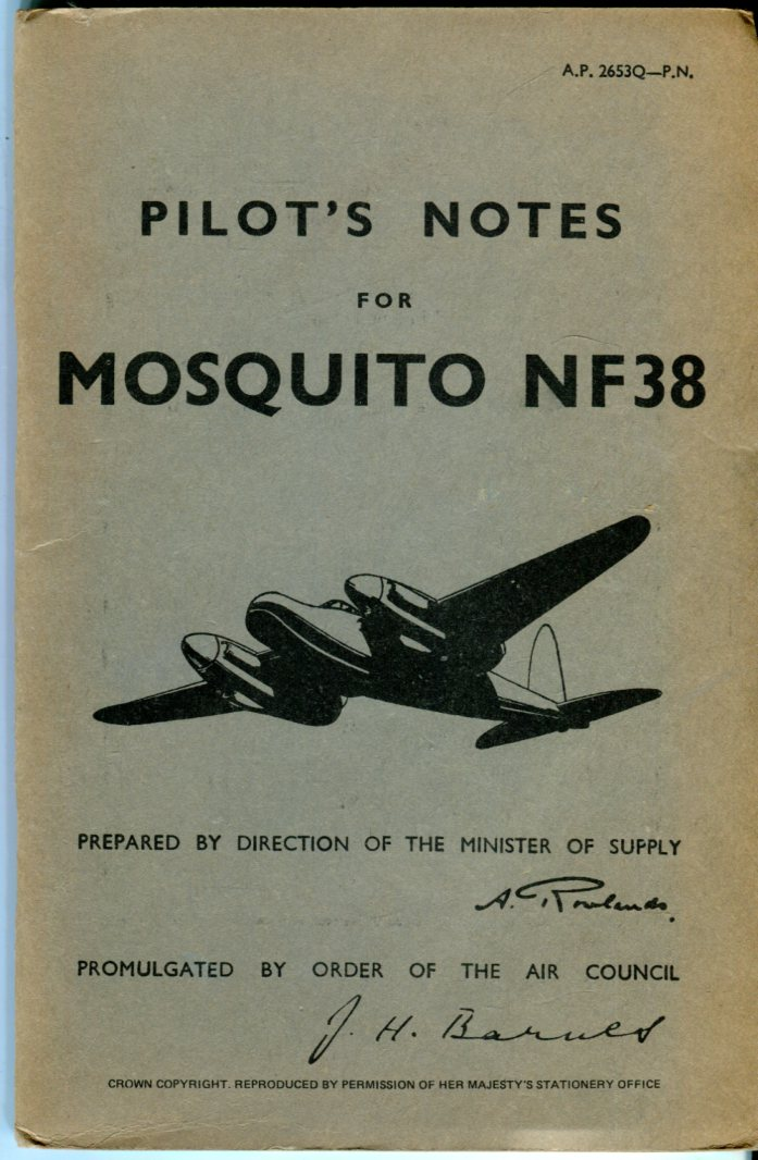 Image for Pilot's Notes for Mosquito NF Mk. 38 (Air Publication 2653Q-P.N.)