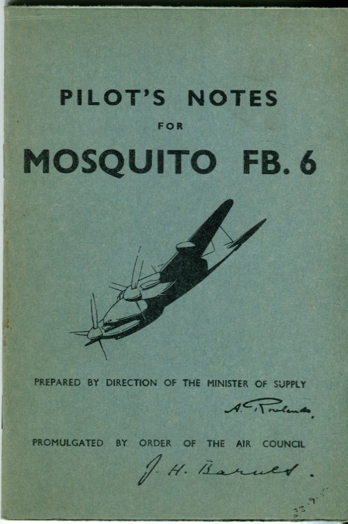 Image for Pilot's Notes for Mosquito FB. 6 (Air Publication 2019E- P.N.)