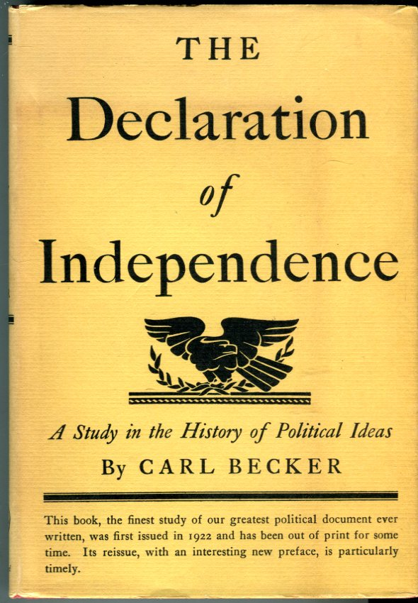 Image for The Declaration of Independence: A Study in the History of Political Ideas