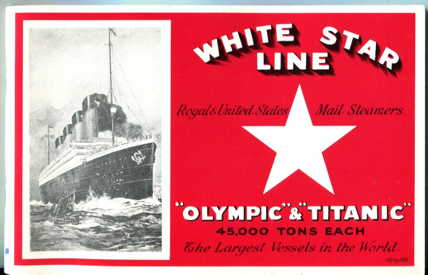 Image for White Star Line Royal Mail Triple-Screw Steamers 'Olympic' and 'Titanic'